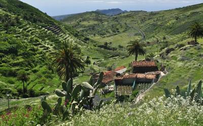 La Gomera, afdaling richting Chipude