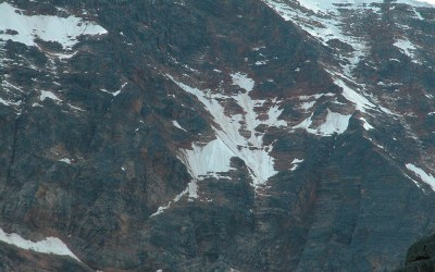 Angels Glacier (alsof er een Engel tegen de bergwand is gevlogen), Mount Edith Cavell, Canada, 2008