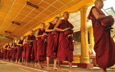 Myanmar, Bago, Kha Wat Wain Klooster