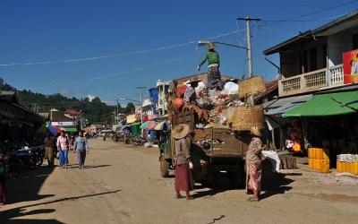 Myanmar, Kyaukme, vuilnisophaaldienst