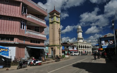 Myanmar, Pyin Oo Lwin, straatbeeld