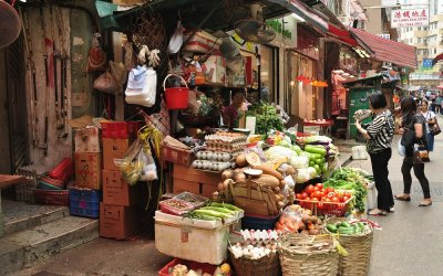Hong Kong, HK Island, markt