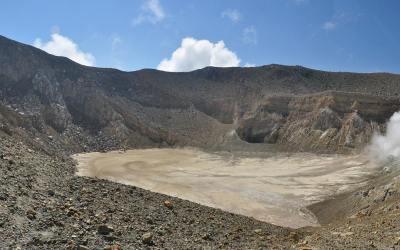 Krater van de Gunung Egon, Flores, Indonesië, 2012