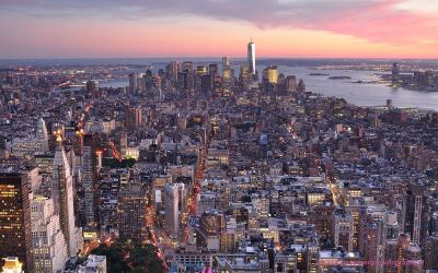 Sunset from Empire State Building, NYC, 23-9-2014