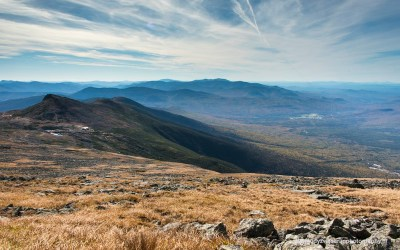 Uitzicht vanaf Mt Washington, Southside Trail, Mt Washington NH, 4-10-2015