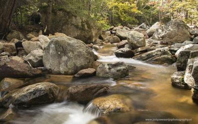 Langs de Bemis Brook Trail, Crawford Notch State Park, NH, USA, 5-10-2015