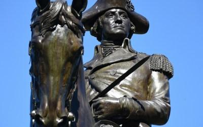 George Washington Statue in Public Garden, Boston MA, USA, 27-9-2015