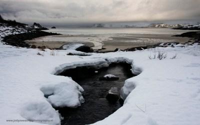 In de buurt van Henningsvaer, Lofoten, Noorwegen, 11-3-2016