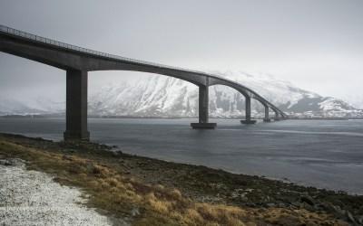 Skjervoy Bridge, Lofoten, Noorwegen, 12-3-2016