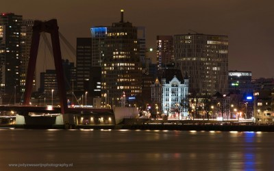 Skyline Rotterdam met