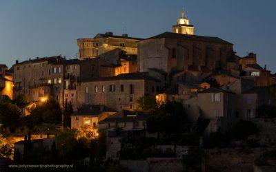 Zonsondergang bij Gordes, Provence, Frankrijk, 5-7-2016