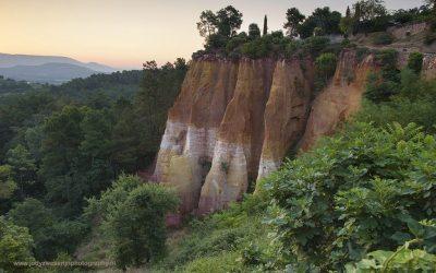 Zonsopkomst bij Roussillon, Provence, Frankrijk, 10-7-2016