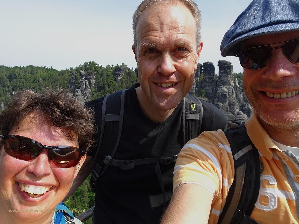 Jan, Jan Jaap en ik, Bastei, Sächsische Schweiz, Duitsland, 5-6-2017