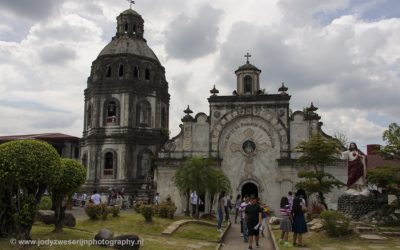 Half in vulkaanas begraven San Guillermo Church, Bacolor, Luzon, Filipijnen, 19-11-2017