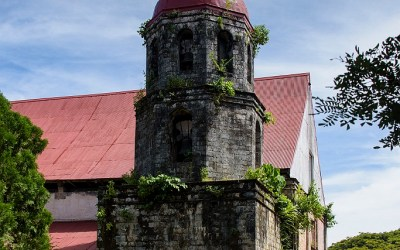 Toren van de San Isidro Labrador Parish Church, Lazi, Siquijor, Filipijnen, 22-11-2017
