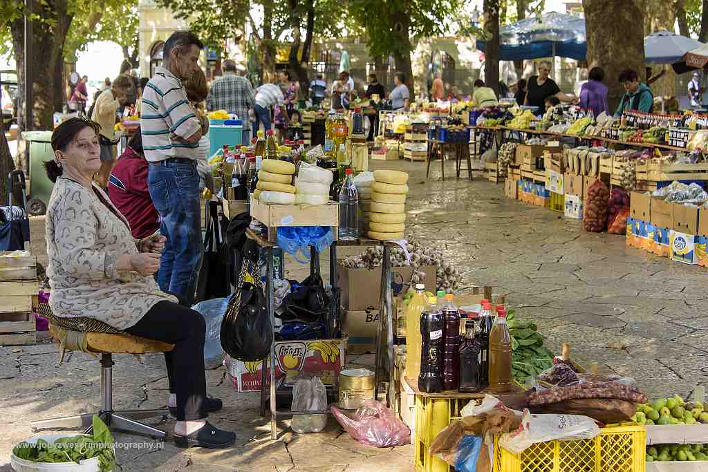 Markt in Trebinje, Bosnië en Herzegovina, 16-9-2019