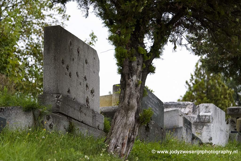 Oude joodse begraafplaats Sarajevo, Bosnië en Herzegovina, 17-9-2019
