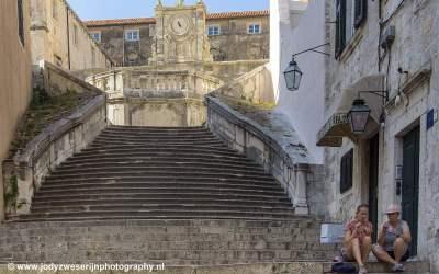 Historische trappen, Dubrovnik, Kroatië, 2019