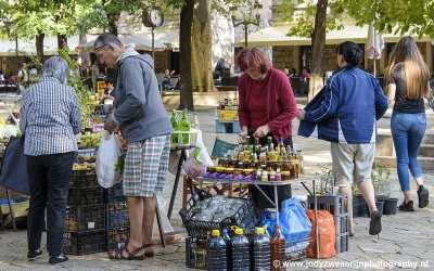 Markt in Trebinje, Bosnië, september 2019