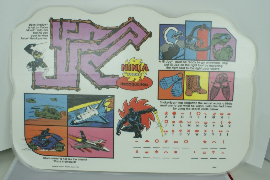 GI Joe Placemat - Ninja Force