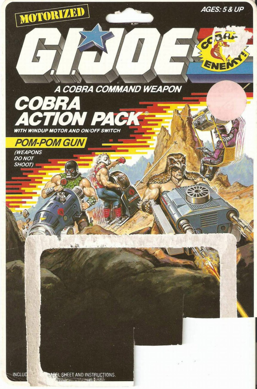 Cobra Action Pack 1987 Card