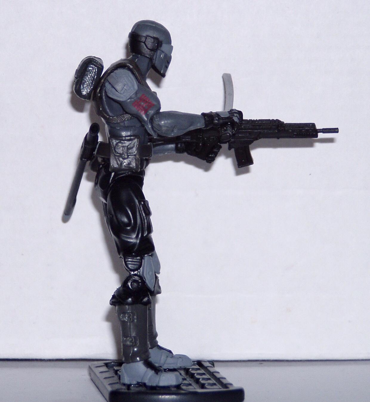 GI Joe Cobra blue SNAKE armor MACHINE GUN arm attachment playset accessory vtg