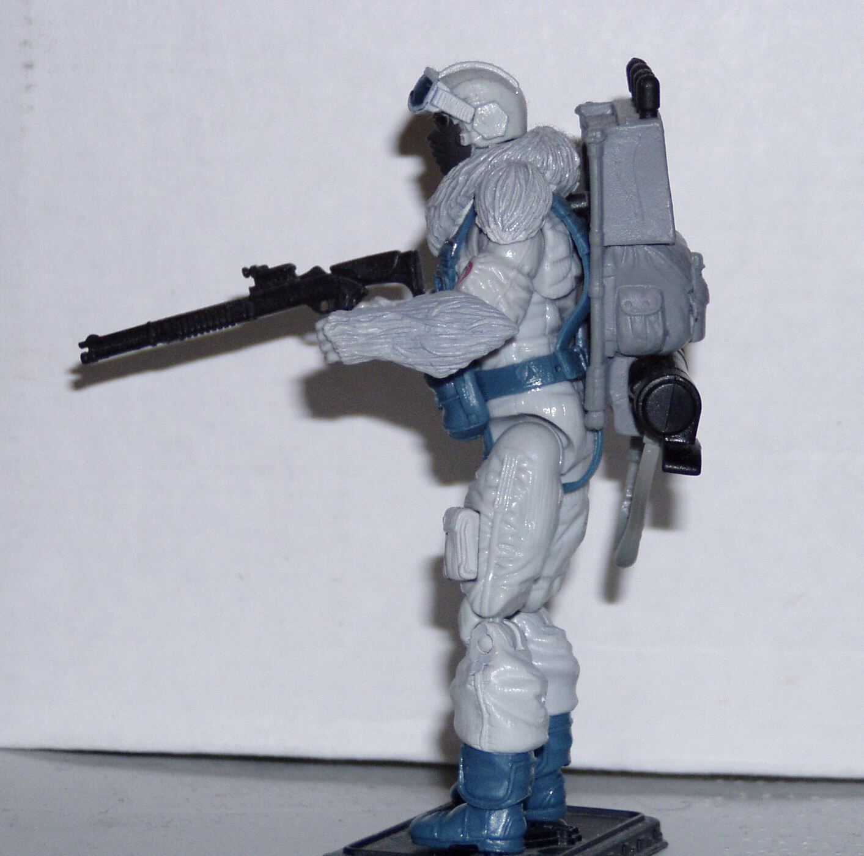 GI Joe Weapon Snow Serpent Figure Stand Original Figure Accessory