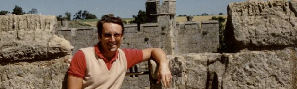 Joe at Bodiam Castle in southeastern England.