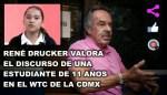 René Drucker valora discurso de una niña de 11 años en el WTC de la CDMX