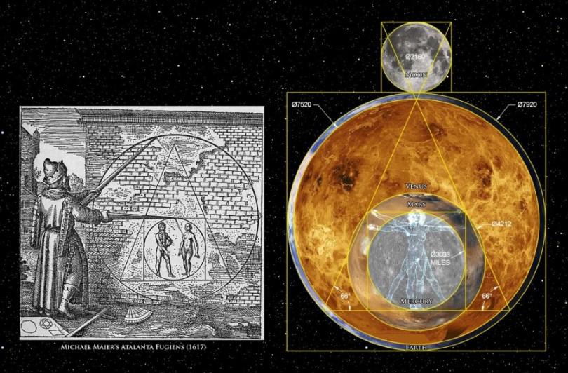 Philosopher's Stone Earth Moon Mercury and Venus and Mars