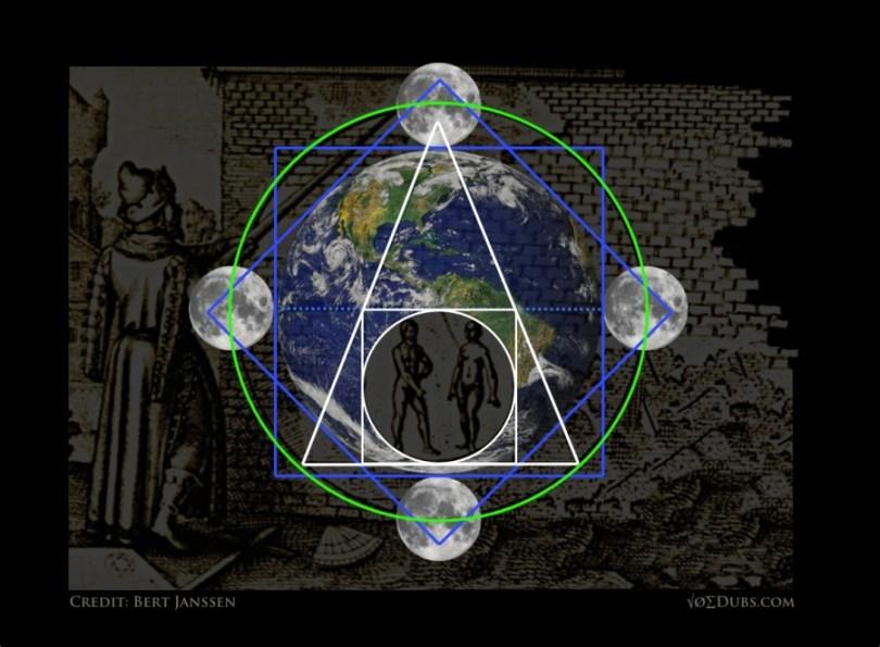 earth and moon geometry