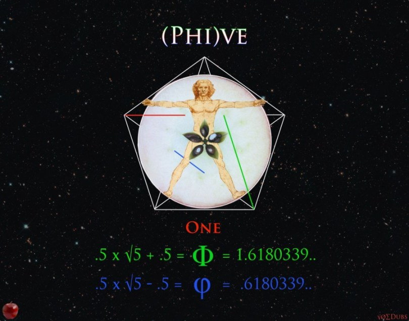 Five and Fibonacci Phive Phi
