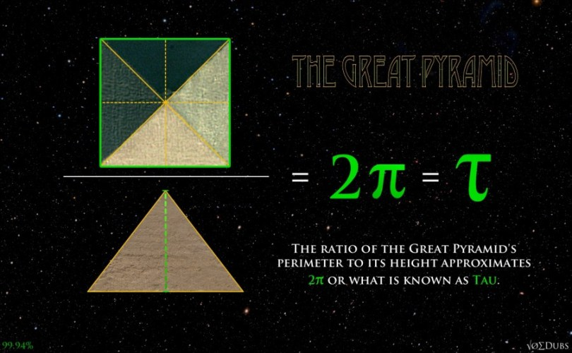 great pyramid pi tau giza