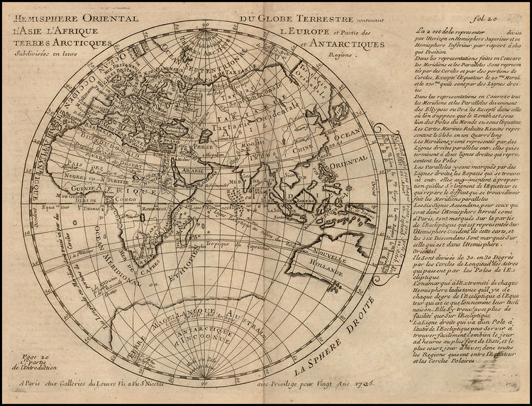 concave earth map
