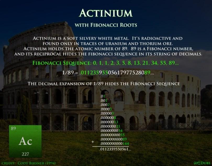 Actinium Fibonacci