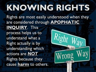 knowing rights