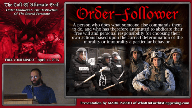 order following passio