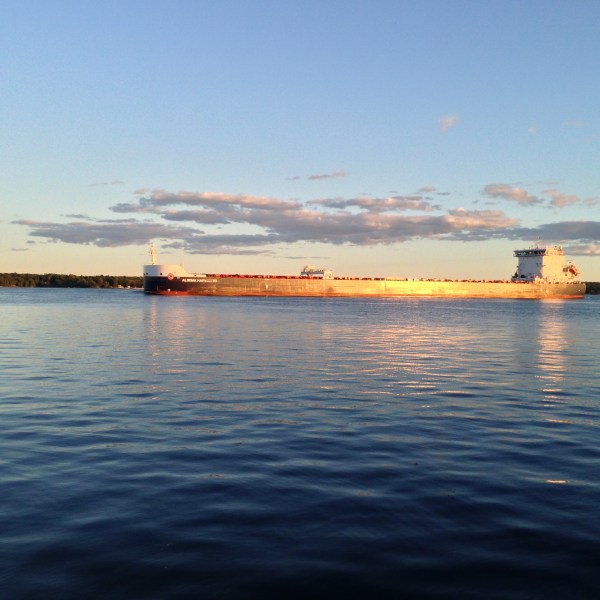 Lake freighter on the St. Lawrence