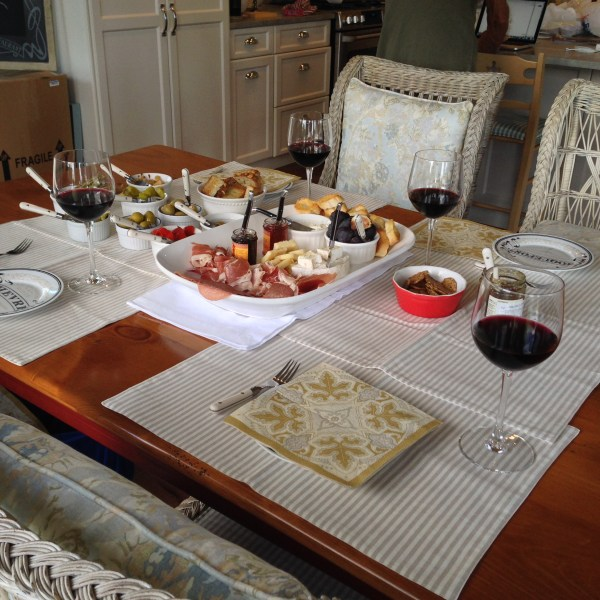 """An afternoon """"snack"""" at our friends' home in Brockville"""