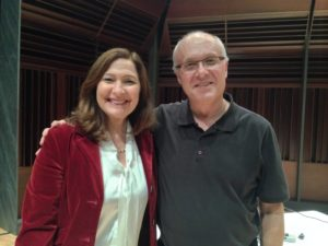 Anna Maria Tremonti and me, post show