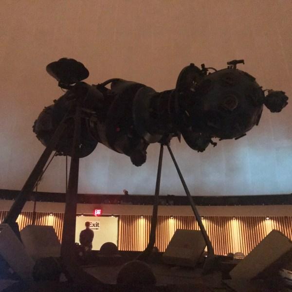 "Recording Polycoro's ""Dark""                at the Manitoba Planetarium"
