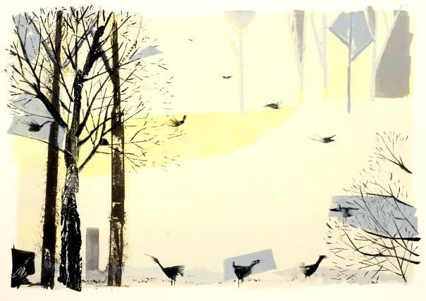 """Cormorant Place, Monotype 22x30"""", 2012"""