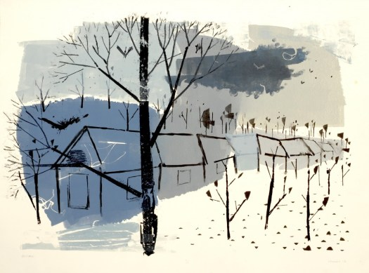 A monotype about seasons, places, and how fast we move, only to return to the same place.