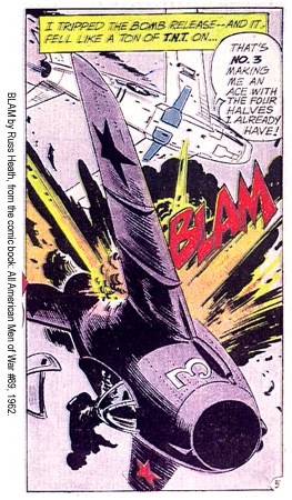 This panel, from DC Comics' All American Men of War No. 89, is by Russ Heath.