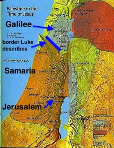 map galilee samaria