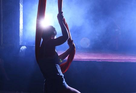 Photo of a girl pole dancing