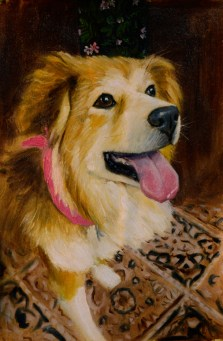 dog-portrait greenville sc painting