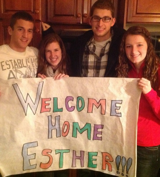 Welcome Home Esther