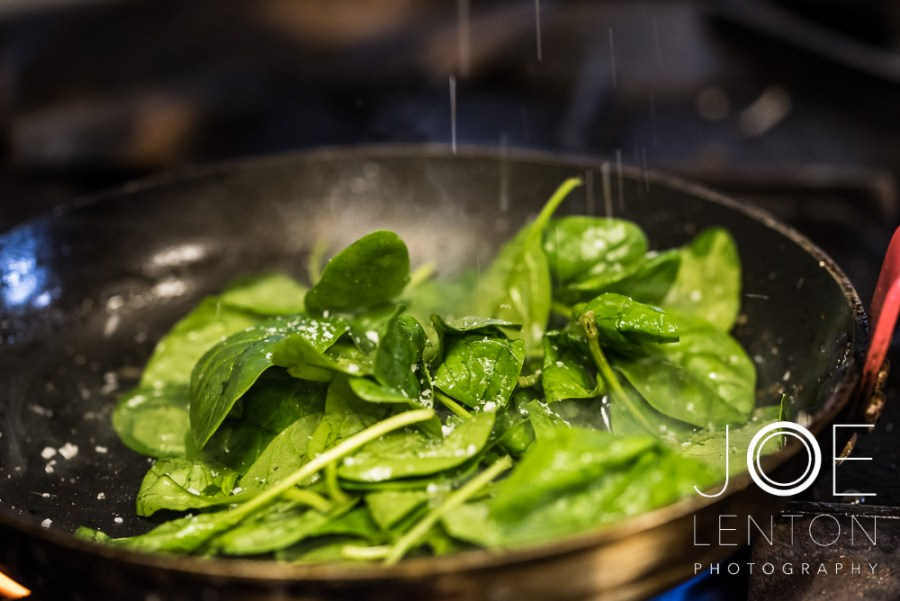 Food Photo Story - Duo of Lamb - spinach 1