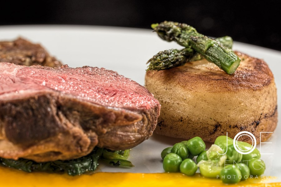 Food Photo Story - Duo of Lamb - plated with asparagus